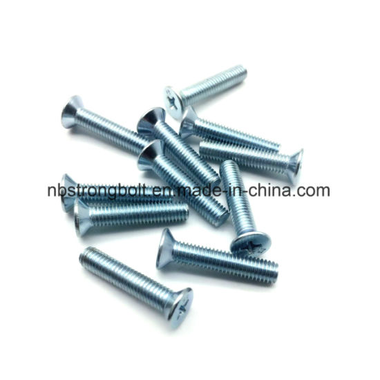 Zp, PZ Cruz Recessed Countersunk Flat Head Screw / China parafuso da máquina de fábrica, China parafuso da máquina fabricante